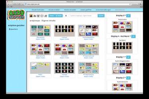 Genau so einfach wie die Erstellung der Andyloops ist die Zuordnung zu Ihren Bildschirmen mit andyshow.