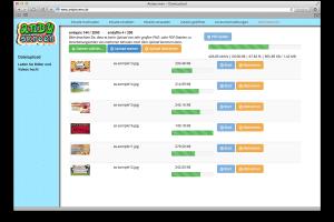 Mit wenigen Klicks laden Sie Inhalte wie Bilder, PDF-Dokumente oder Videos von Ihrem Rechner oder Tablet-PC ins andyscreen-Portal.
